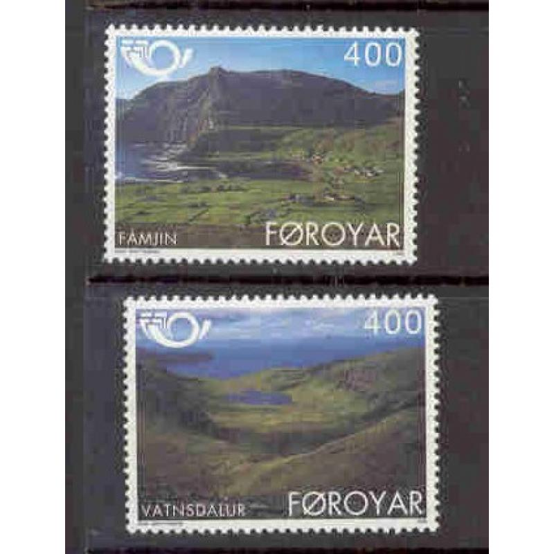 Faroe Islands Sc 280-81 1995 Tourism Nordica stamp set mint NH