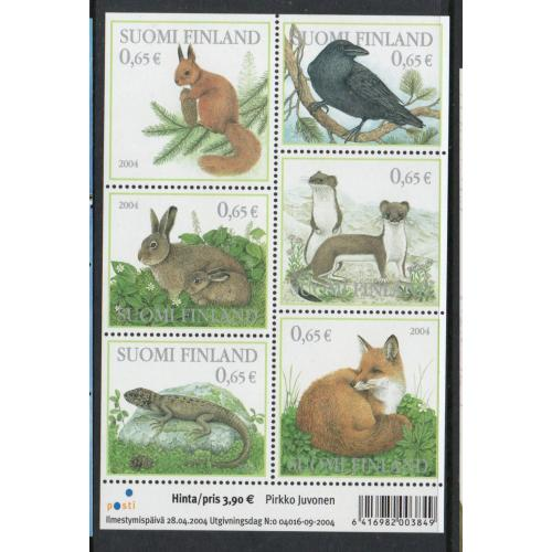 Finland Sc 1214  2004 Forest Animals stamp sheet mint NH