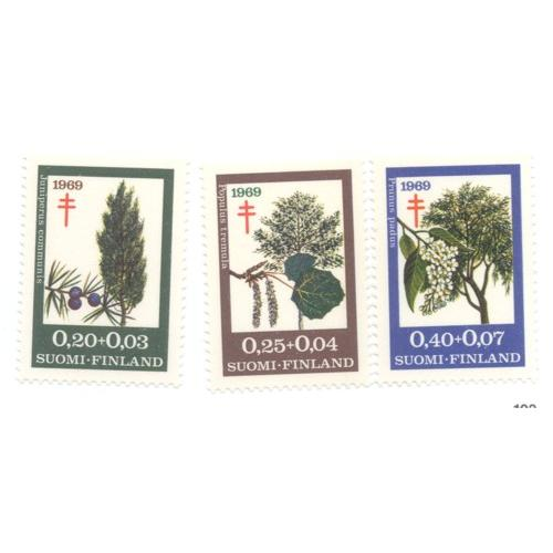 Finland Sc B185-7 1969  TB Trees  stamp set mint NH