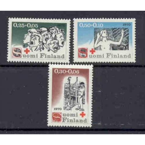 Finland Sc B188-90 1970 Red Cross  stamp set mint NH