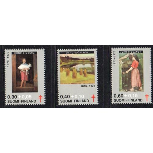Finland Sc B197-99 1973 Paintings TB  stamp set mint NH