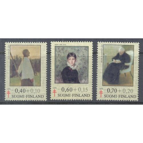 Finland Sc B203-05 1975 Paintings TB  stamp set mint NH