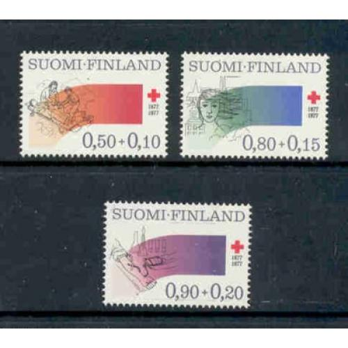 Finland Sc B210-12 1977 Red Cross  stamp set mint NH