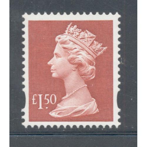 Great Britain Sc MH 280 1999 £1.5 red Machin Head stamp mint NH