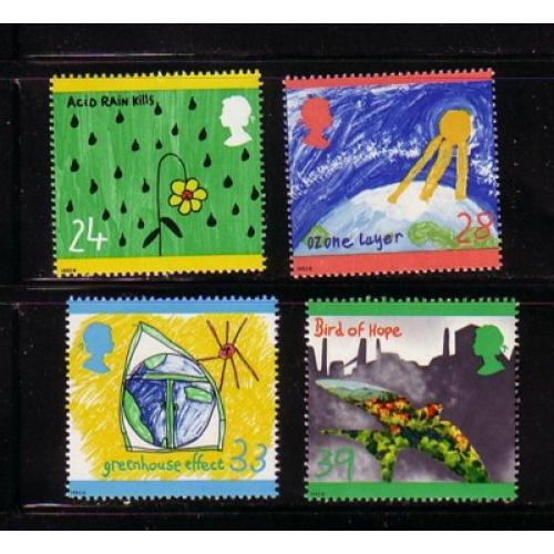 Great Britain Scott  1463-66 1992 Environment  stamp set mint NH