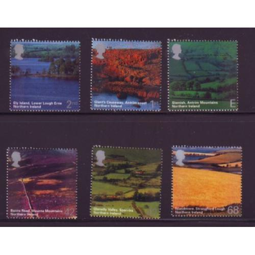 Great Britain Sc 2193-98 2004 Northern Ireland Views stamp set mint NH
