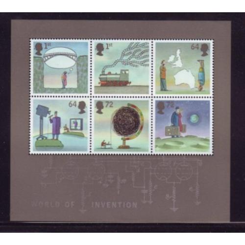 Great Britain Scott  2449a 2007 Inventions stamp sheet mint NH