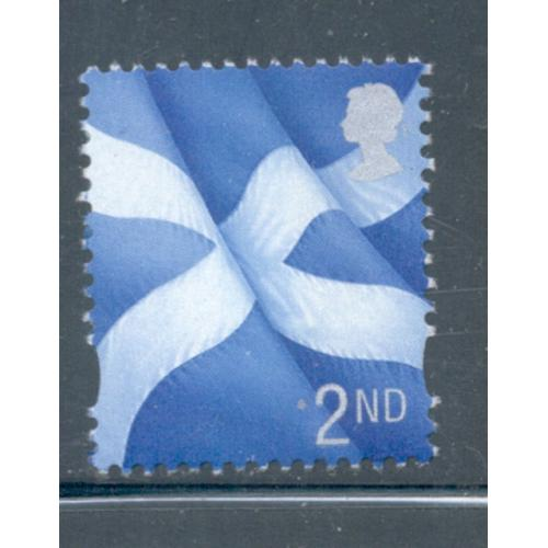 Great Britain Scotland Sc 14 1999 2nd Flag stamp mint NH