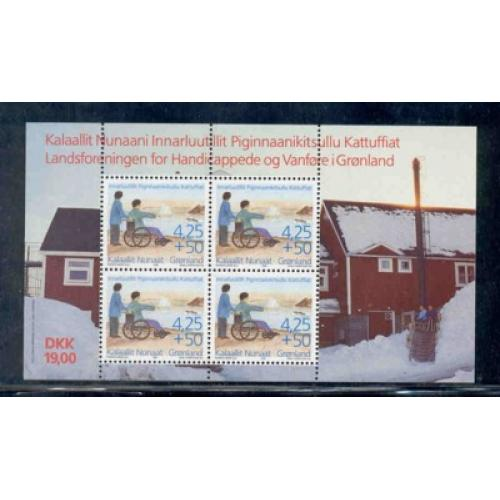 Greenland Sc B21a 1996 Disabled stamp sheet mint NH