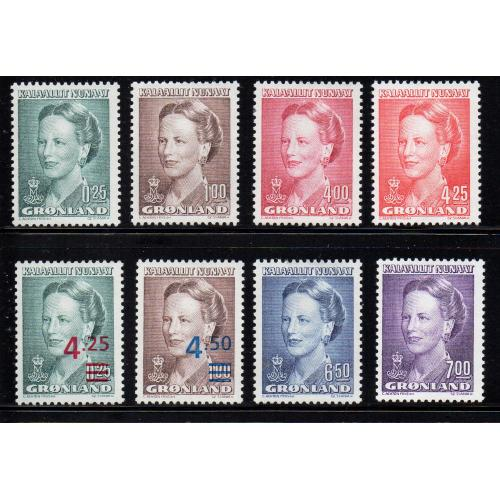 Greenland Sc 214-29 1990-96 Queen stamp set mint NH