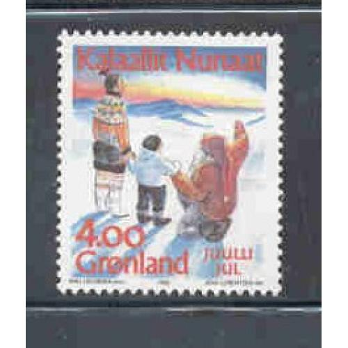 Greenland Sc 254 1992 Christmas stamp mint NH