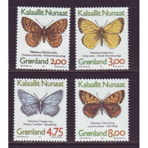 Greenland Sc 315-18 1997 Butterflies stamp set mint NH