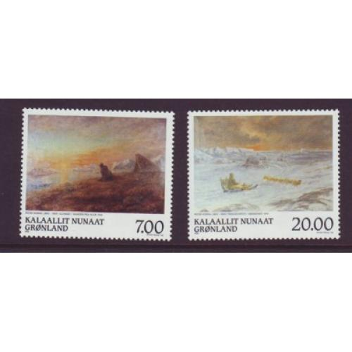 Greenland Sc 349-50 1999 Rosing Paintings stamp set mint NH