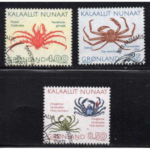 Greenland Sc 256-8 1993 Marine Life stamp set used