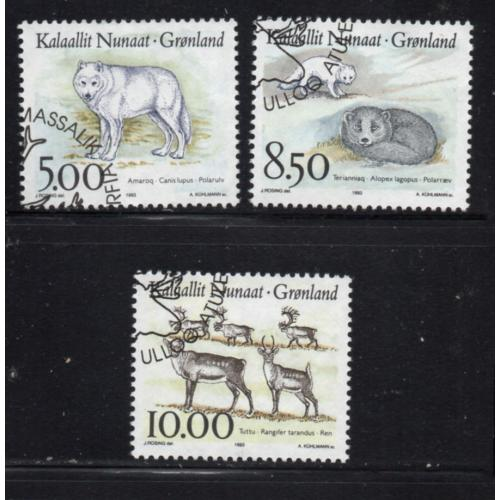 Greenland Sc 262-4 1993 Wildlife stamp set used