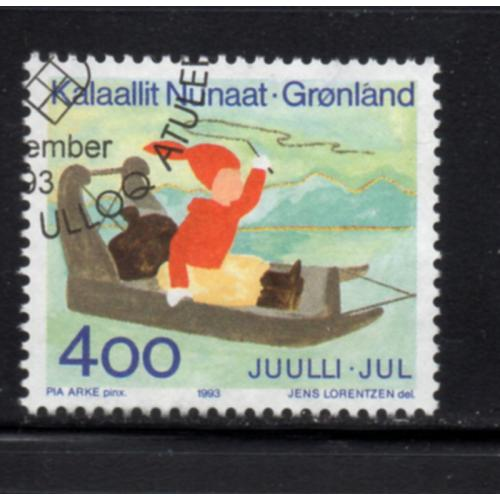 Greenland Sc 265 1993 Christmas stamp used