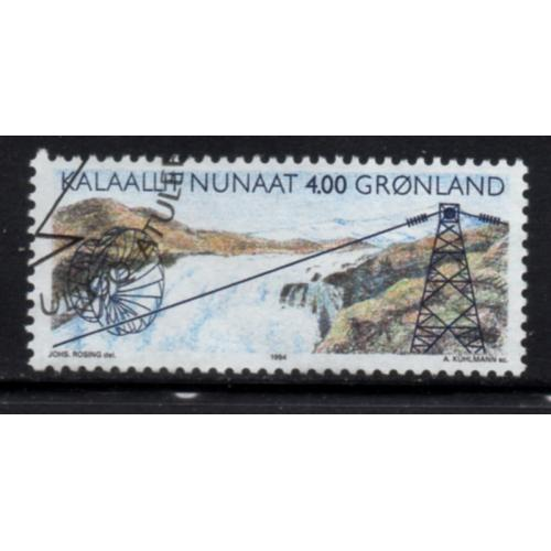 Greenland Sc 266 1994 Hydro Electricity stamp used