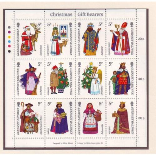 Guernsey Sc 319 1985  Christmas stamp miniature pane  mint NH