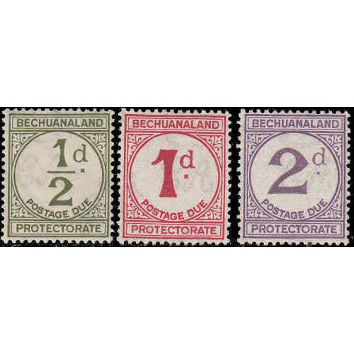 Bechuanaland Protectorate #J4-6 Mint Never Hinged