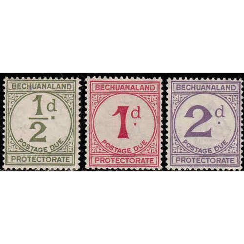 Bechuanaland Protectorate #J4-6 Mint