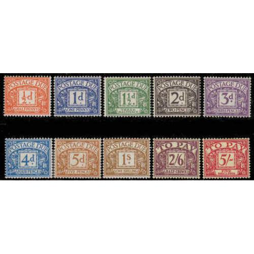 Great Britain #J45-54 Mint Set