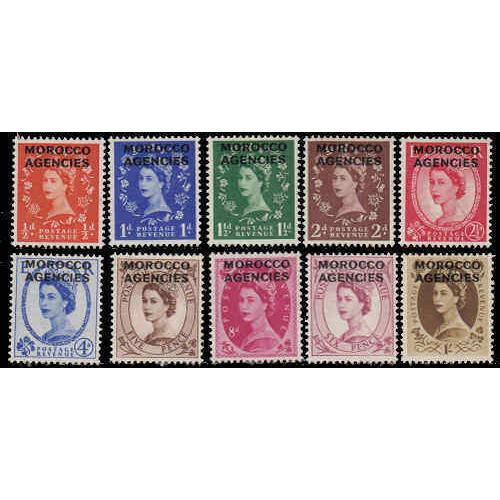 Great Britain Offices In Morocco #270-79 Mint