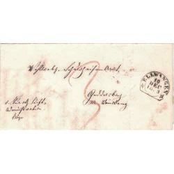 Germany - Ellwangen 1853 Stampless Cover