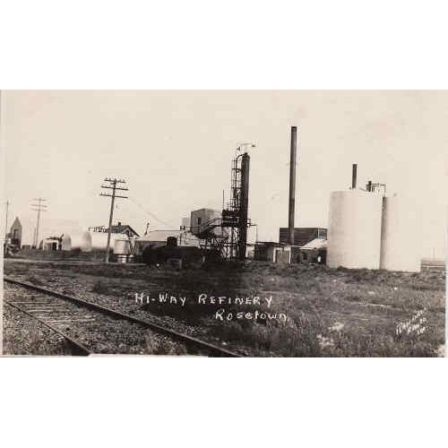 Hi-Way Refinery Rosetown Real Photo Post Card