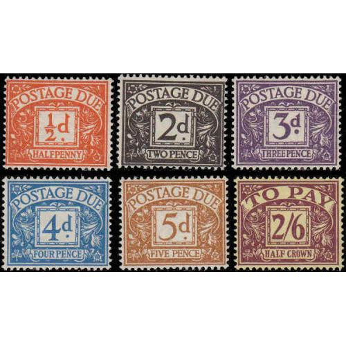 Great Britain #J39-44 Mint Set