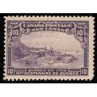 Canada 1908 10¢ Quebec Tercentenary Issue, #101 Mint