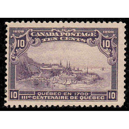 Canada 1908 10¢ Quebec Tercentenary Issue