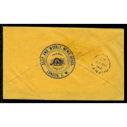 London U.C. 1863 Stampless Advertising Cover