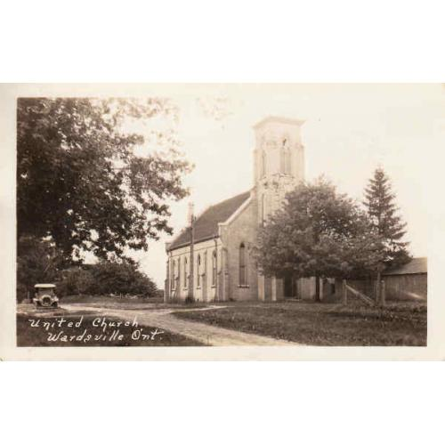 Wardsville United Church Real Photo Post Card