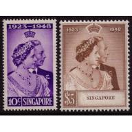 Singapore #21-22 Very Fine Mint Never Hinged
