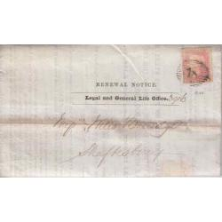 Great Britain #20 on Folded Insurance Renewal Notice