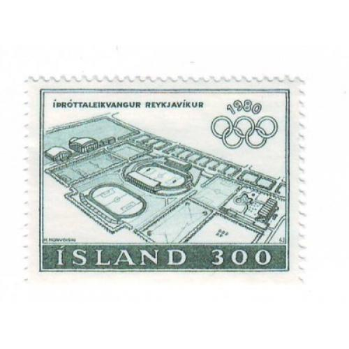 Iceland Sc 531 1980 Olympics stamp mint NH