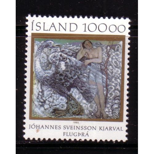 Iceland Sc 615  1985 Kjarval Painting stamp mint NH