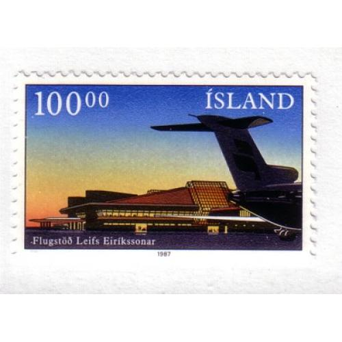 Iceland Sc 638 1987 Keflavik Airport stamp mint NH
