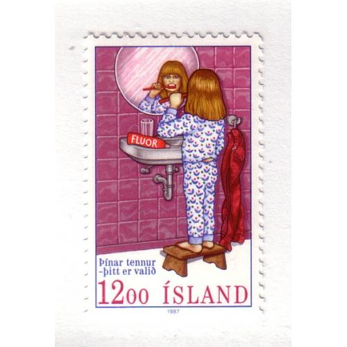 Iceland Sc 647 1987 Dental Protection stamp  mint NH