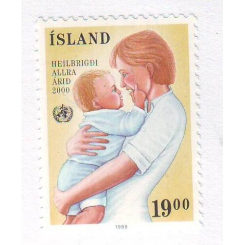 Iceland Sc 668 1988 40th Anniversary WHO stamp mint NH