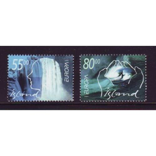 Iceland Sc 937-38 2001 Europa stamp set mint NH