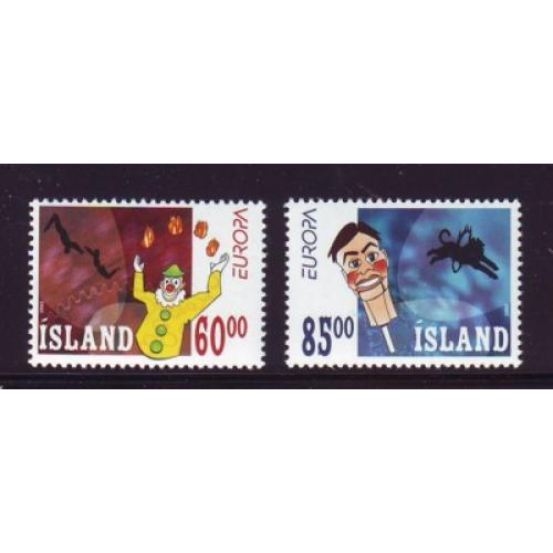 Iceland Sc 966-67 2002 Europa stamp set mint NH