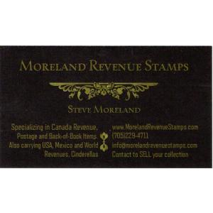 Moreland Revenue Stamps and Supplies