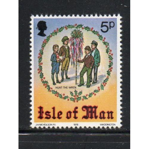 Isle of Man Sc 141 1978 Christmas stamp mint NH