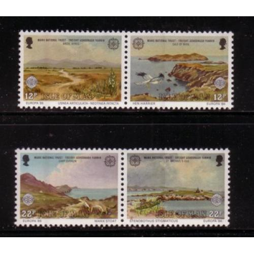 Isle of Man Sc 306-07 1986 Europa stamp set mint NH