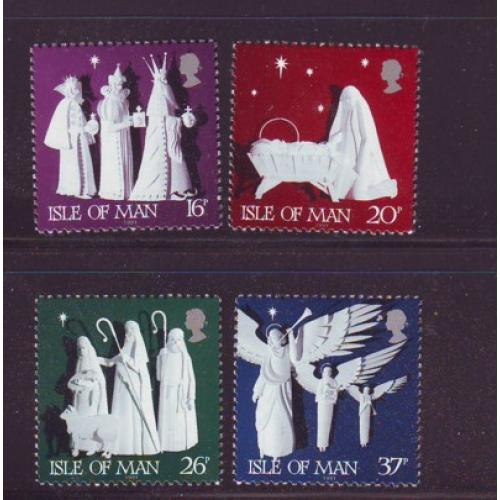 Isle of Man Sc  488-91 1991 Christmas stamp set mint NH