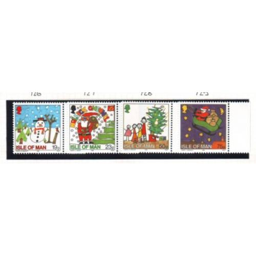 Isle of Man Sc 723-26 1996 Christmas stamp set mint NH