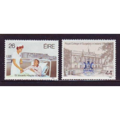 Ireland Sc 589-0 1984 Surgeons Hospital stamp set mint NH
