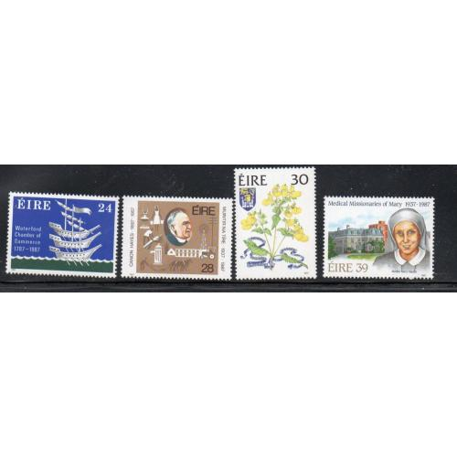 Ireland Sc 685-87 1987 Anniversaries stamp set mint NH