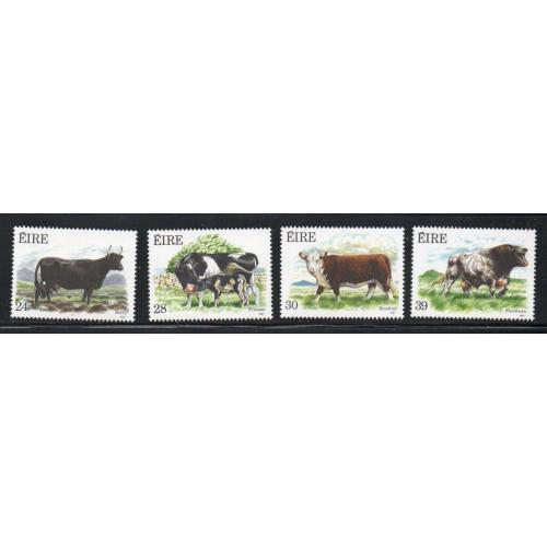 Ireland Sc 691-94  1987 Cattle stamp set mint NH